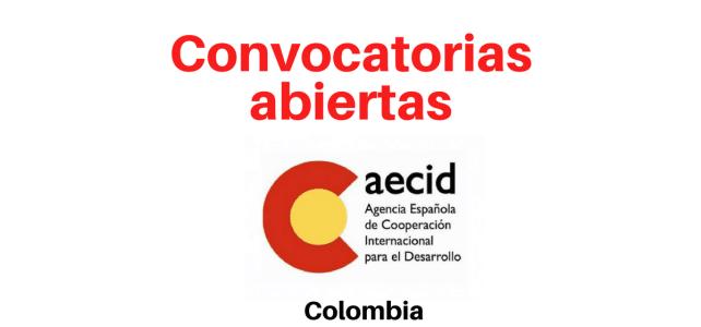 Convocatorias abiertas con AECID