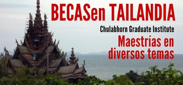 Becas en Tailandia para maestrías en diversos temas