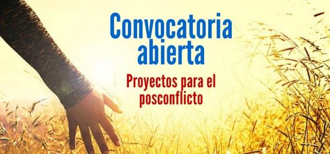 Convocatoria para colombianos presenten proyectos para el Posconflicto