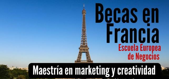 Becas en Francia para maestría en marketing y creatividad