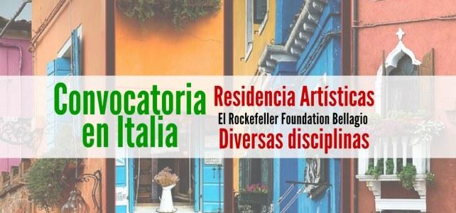 Convocatoria para Artistas en Italia