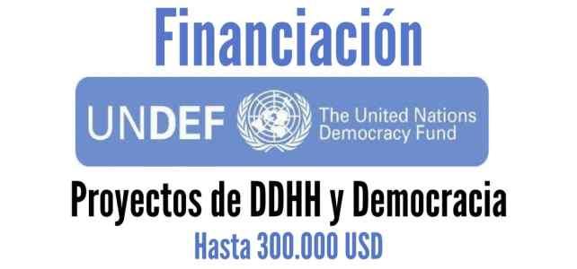 UNDEF financia proyectos de Derechos Humanos y Democracia