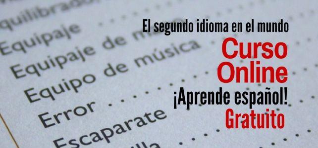 Curso online y gratuito para aprender español