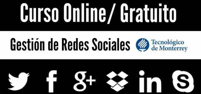 Curso online y gratuito: gestión de redes sociales