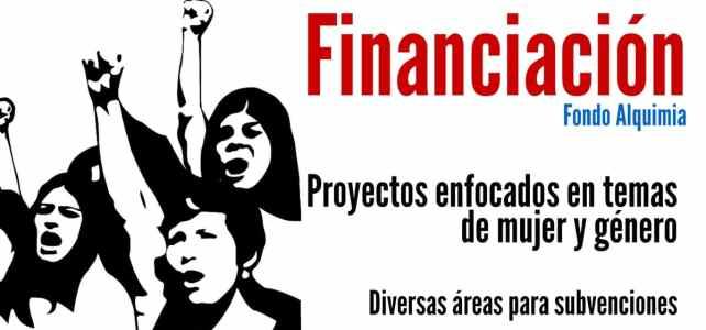 Financiamiento a proyectos enfocados en temas de mujer y género