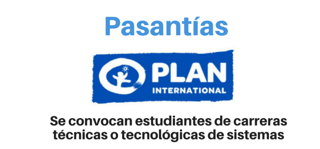 Fundación Plan convoca estudiantes para realizar pasantías