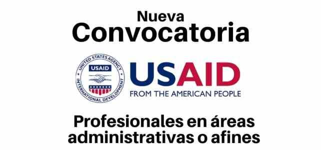 Convocatoria USAID busca profesionales en áreas administrativas