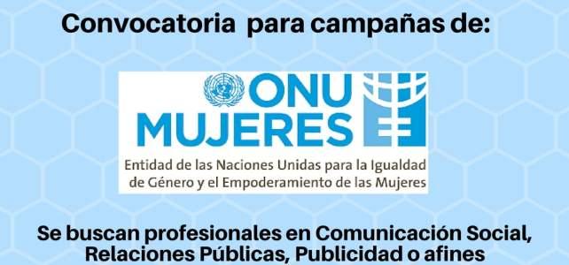 Convocatoria ONU Mujeres: comunicaciones y campañas de género