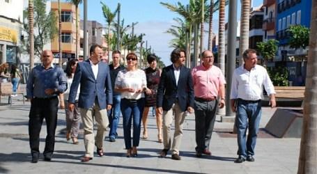 La alcaldesa muestra el potencial del peatonal y el comercio de Santa Lucía de Tirajana