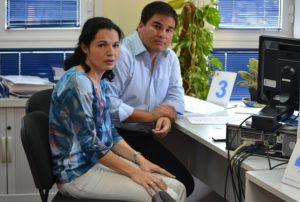 Isabel Santiago y Mencey Navarro, portavoces de NC y Ciuca de Mogán
