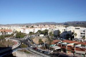 Rotonda de la Viuda de Franco y acceso a San Fernando de Maspalomas desde la GC-500
