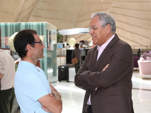 Ramón Suárez  (derecha) y David Cassani