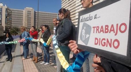 Unas 30 personas reivindican los derechos de las trabajadoras del hogar