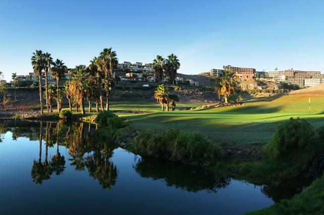 Campo de golf del hotel Sheraton Salobre, en San Bartolomé de Tirajana