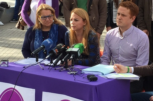 Meri Pita, Noemí Santana y Alejandro Pérez, de CQP