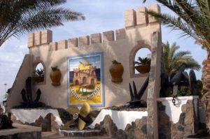 Castillo del Romeral, entrada