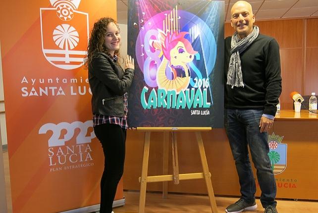 Sara González y Julio Ojeda presentan el cartel del Carnaval 2016