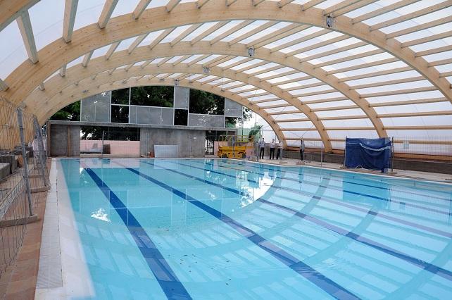 Obras techumbre piscina Aldea Blanca