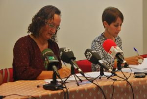 Onalia Bueno (d) y Pino González, grupo de gobierno Ciuca-PSOE