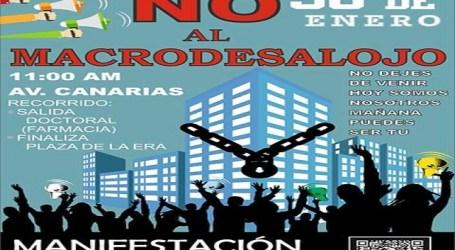 La PAH exige al Ayuntamiento de Santa Lucia que apoye a los vecinos de las Brisas