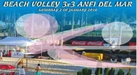 Anfi inaugura 2015 celebrando el I Torneo Internacional de Voley Playa 3×3