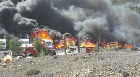 Un incendio calcina seis caravanas y cuatro coches en el camping de Tarajalillo