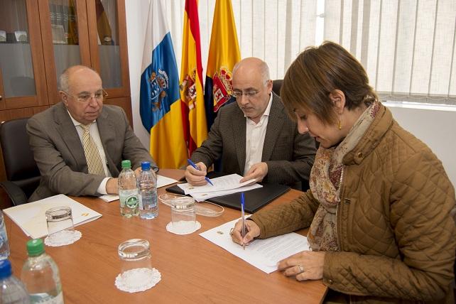 Antonio Morales, Onalia Bueno y Juan Francisco Trujillo