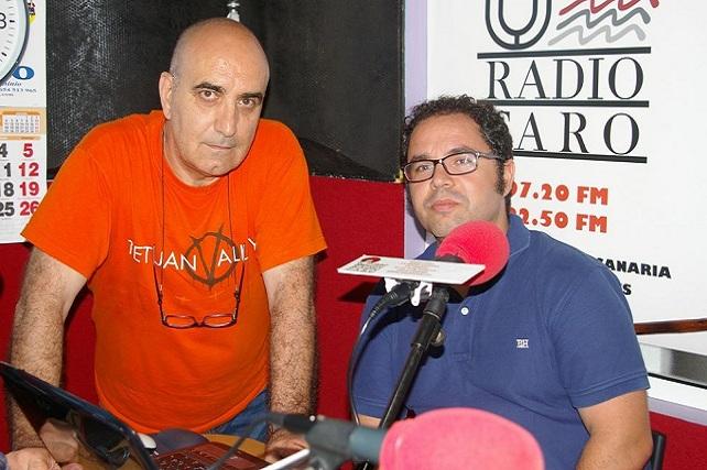 Gustavo Santana (dcha), secretario general de UGT Canarias