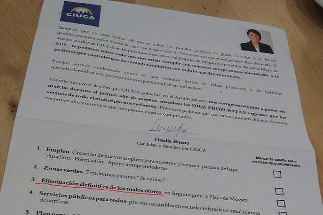 Carta electoral de Ciuca