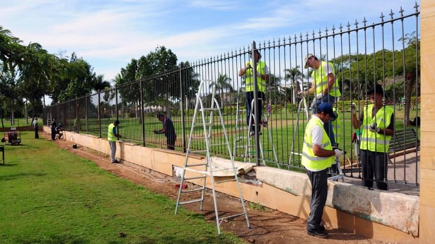 Parque urbano del Sur, trabajadores por cuenta del Ayuntamiento de San Bartolomé de Tirajana
