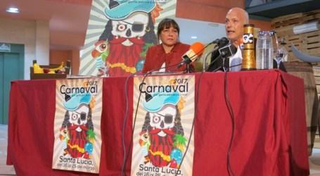 Dunia González y Julio Ojeda presentan el programa de actos del Carnaval de Santa Lucía