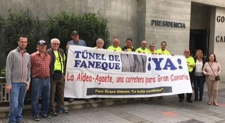 Roque Aldeano pide a Fomento partidas finalistas para la II fase de la carretera El Risco-Agaete