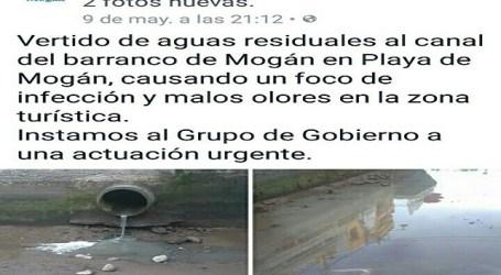 El PP de Mogán denuncia que el vertido de aguas fecales se conocía desde el martes