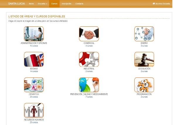 Escuela Virtual de Santa Lucía, pantallazo