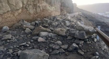Declarada de emergencia la reparación del desplome en la carretera GC-500 de Taurito a Mogán