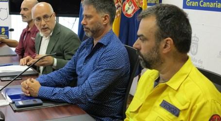 La investigación del Cabildo de Gran Canaria se centra en la hipótesis del incendio intencionado