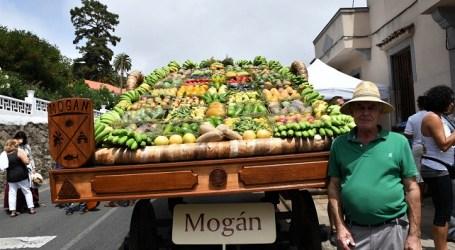 Mogán ofrece a la Virgen del Pino más de 1.000 kilos de fruta y más de 200 kilos de pescado