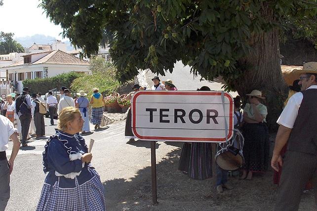 Zona del Castañero Gordo, en Teror
