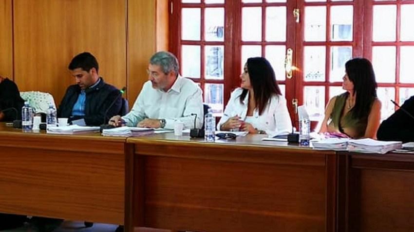 Concejales de Nueva Canarias en el pleno