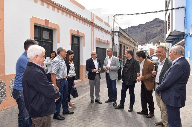 La Aldea de San Nicolás, visita del Cabildo de Gran Canaria