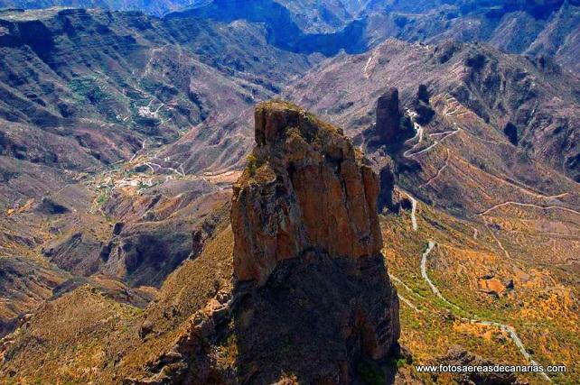 Roque Bentaiga, en la isla de Gran Canaria