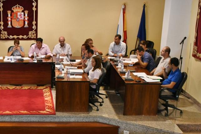 Pleno municipal, grupo de gobierno Ciuca-PSOE