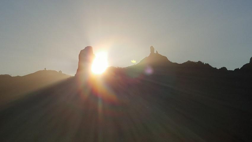 Roque Bentayga, solsticio de invierno