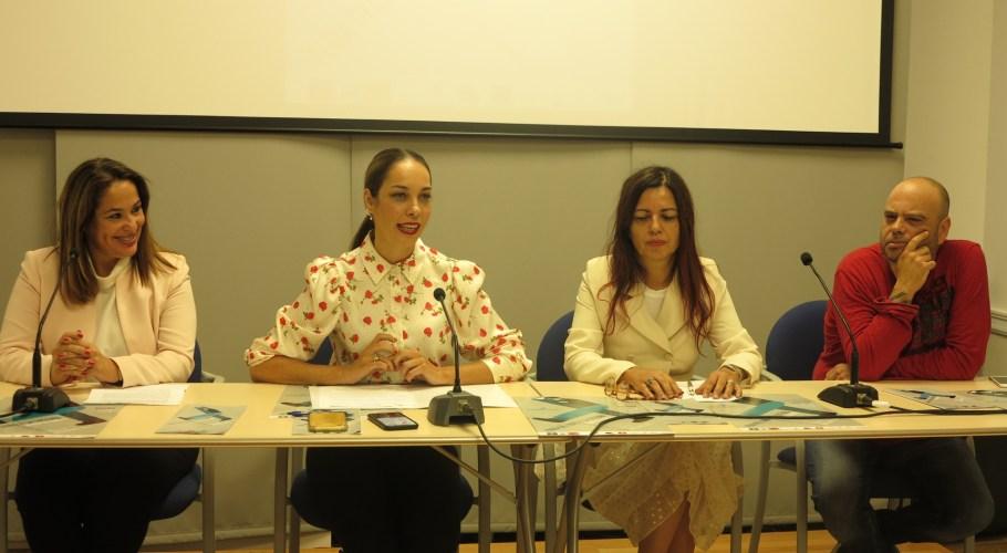 Feria del LIbro 2019. Elena Espino, Guacimara Medina, Nieves Pérez y Carlos García