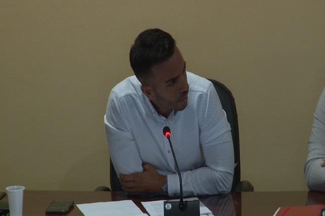 Maicol Santana, en el Pleno municipal