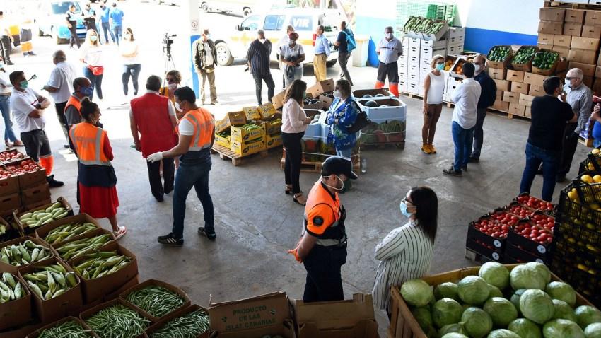 El Ayuntamiento agradece el trabajo de los bancos de alimentos y las donaciones de empresas Un empresario entrega 6.000 kilos de frutas y verduras destinados a cientos de familias de San Bartolomé de Tirajana que lo solicitan durante la crisis sanitaria y económica