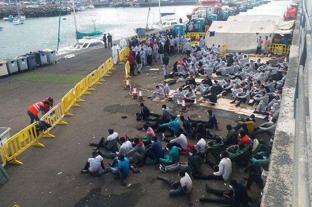 """NC pide que Yla Johansson se desplace a Arguineguín para tomar conciencia de la crisis migratoria en Canarias Esther González opina que el Archipiélago """"no está para tibiezas"""" como la propuesta """"muy poco ambiciosa"""" del pacto de la comisaria de Interior de la UE"""
