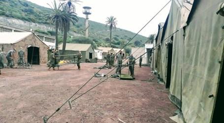 El Mando de Canarias instala un campamento en Barranco Seco