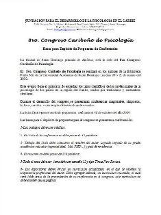 Bases 8vo congreso caribeño psicologia