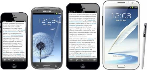 Posible tamaño iphone 6